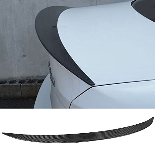 Trunk Spoiler Fits 2007-2013 BMW 1 Series E82 | P Style Carbon Fiber CF Rear Tail Lip Deck Boot Wing Other Color Available By IKON MOTORSPORTS | 2008 2009 2010 2011 2012