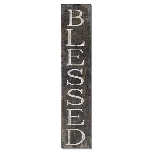 American Woodcrafters Blessed Vertical Pine Pallet Sign, 36 x 7.5 inches
