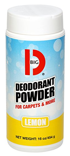 Big D 152 Deodorant Powder for Carpets & More, Lemon Fragrance, 16 oz (Pack of 12) - Ideal for use on carpet, wood, textiles and trash dumpsters