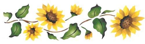 Sunflower Wall Stencil SKU #926 by Designer Stencils by Designer Stencils