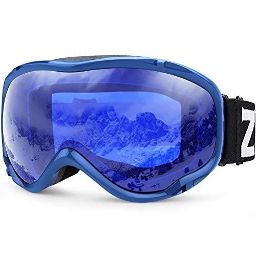 Zionor Lagopus Ski Snowboard Goggles UV Protection Anti-Fog Snow Goggles for Men Women - Skis Womens Beginner