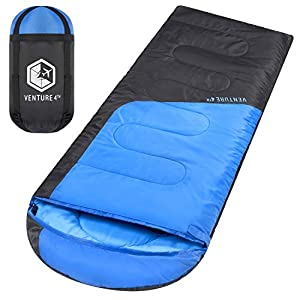 Backpacking Sleeping Bag - Lightweight, Comfortable, Water Resistant, 3 Season Sleeping Bag for Adults & Kids - Ideal for Hiking, Camping & Outdoor Adventures - Regular Size 11