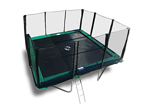 Happy Trampoline - Galactic Xtreme Gymnastic Rectangle Trampoline with Net Enclosure - High Performance & Safety Features Commercial Grade I Life-time warranty, 550 lbs Jumping Capacity, 14 X 16 Ft