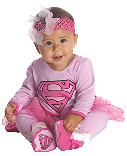 DC Comics Supergirl Onesie And Headpiece, Pink, 0-6 -