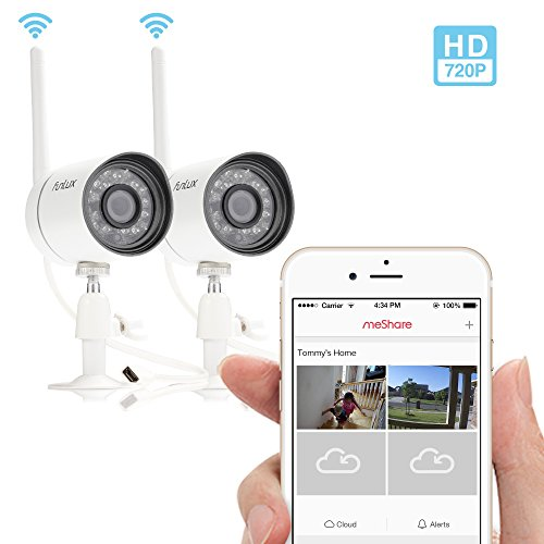 Funlux NEW Outdoor 720P HD Smart Wireless Surveillance Camera System -- Set Up in 2 Mins