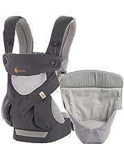 Ergobaby Babydrager voor pasgeborenen van de geboorte aan pakket incl. pasgeborenen, collectie 360 4-posities baby-draagtas Cool Air Mesh - Carbon Grey
