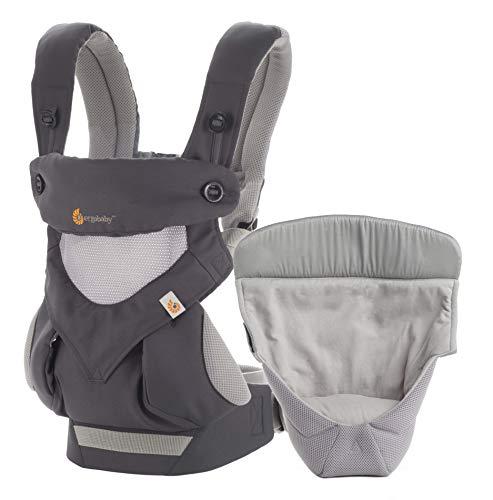 Ergobaby Babydrager voor pasgeborenen van de geboorte aan pakket incl. pasgeborenen, collectie 360 4-posities baby…