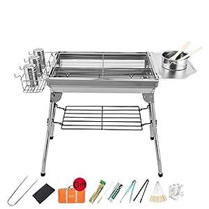 Barbecue a Carbone Griglia for Acciaio Inox carbonella Rack Borse Pieghevole Esterna con immagazzinaggio for 3~5 Persone… 11 spesavip