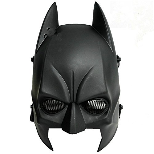 ATAIRSOFT Airsoft Cs Wargame Field Half Head Mask Protect Army Cosplay Mask Black ()