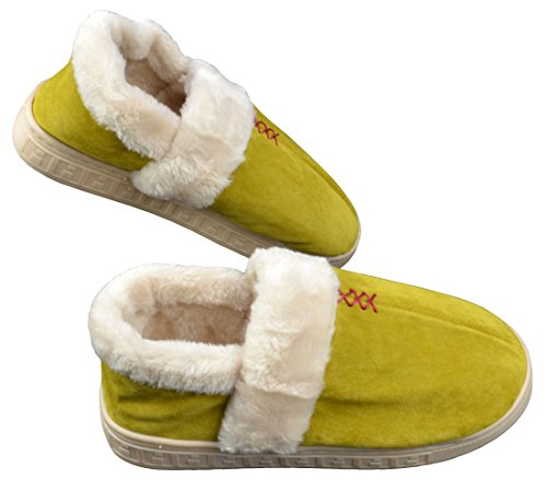 Mode Pluche Woninginrichting Warme Pantoffels Goudgeel
