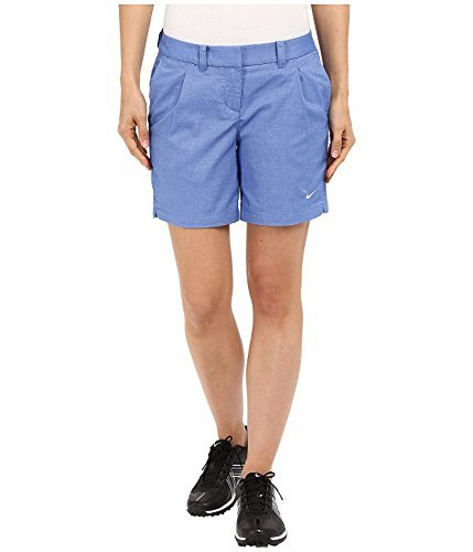 Nike Golf Women's Oxford Shorts, Game Royal/White 2 X 6