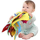 Baby Soft Cloth Book, First Activity Crinkle Peek A Boo 3D Animal Book, Early Learning Educational Toy Newborn Babies, Toddlers, Infants, Kids, Perfect