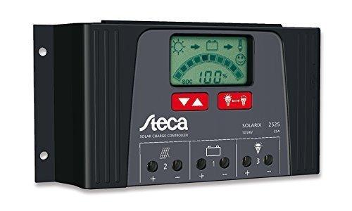Steca Solarladeregler Solarix 12/24 V DC 40 A LCD Display, IP32 5 V USB 1,5A, 1 Stück, 4040
