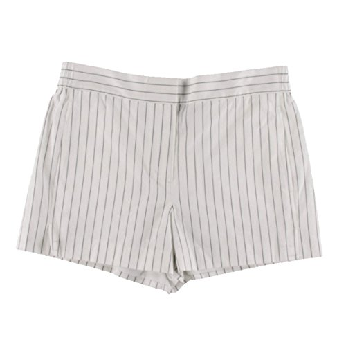 DKNY Womens Cotton Pinstripe Casual Shorts White 8 by DKNY