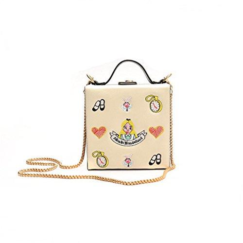 Women Mini Box Shoulder Totes T2 PU ZJ Handbags Clutch Embroidery Bag amp;OS Purse Evening 6wn1qYt