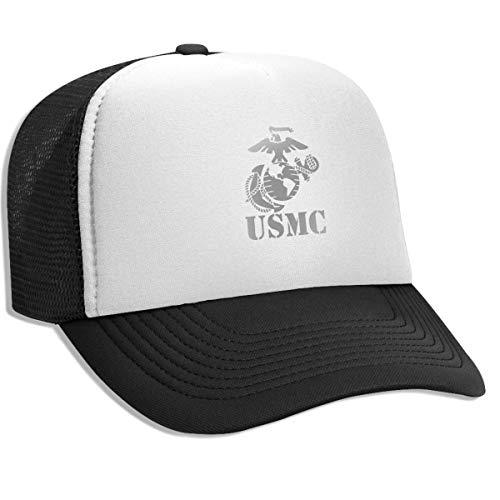 Unisex Adult Trucker Hat Eagle Globe Anchor USMC Marine Corps Adjustable Mesh Cap Baseball Cap - Camo Globe Marine