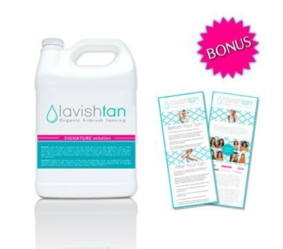 Best Organic Airbrush Spray Tan Solution - (128oz) by Lavish Tan