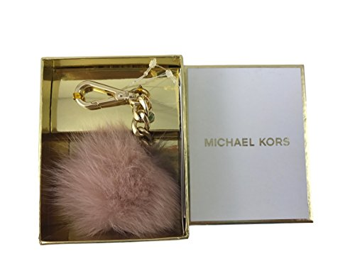 Michael Kors Small Fur Pom Pom Charm with Lobster Clasp in Ballet Pink