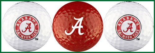 Collegiate Golf Gift - University of Alabama Golf Ball Gift Set