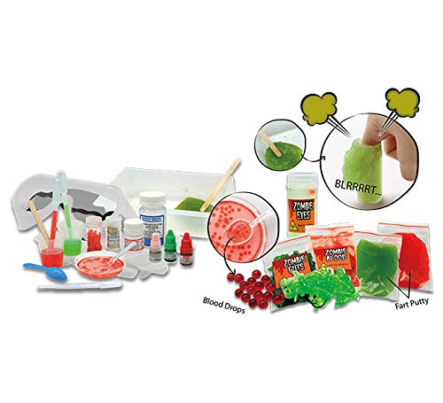 Playz Disgusting n' Gross Zombie Farts, Boogers, & Bloody Slime Science Activity & Experiment Set - 34+ Tools to Make Levitating Eyeballs, Gizzards, Fart Putty & Boiled Boogers for Boys & Girls Age 8+ by Playz (Image #3)