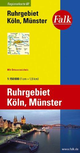 Falk Regionalkarte Ruhrgebiet - Köln - Münster 1:150 000
