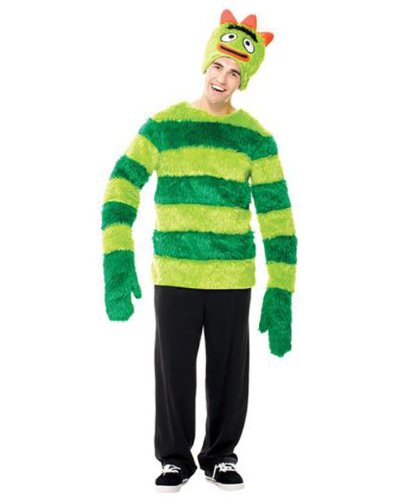 Yo Gabba Gabba Brobee Male Costumes (Mens Yo Gabba Gabba Brobee Costume L)