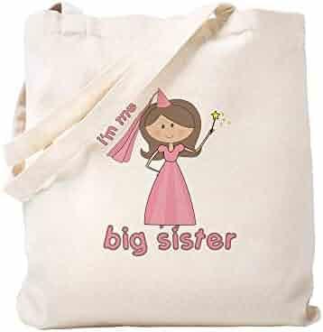 b828bf588 CafePress I'm The Big Sister Princess Natural Canvas Tote Bag, Cloth  Shopping Bag