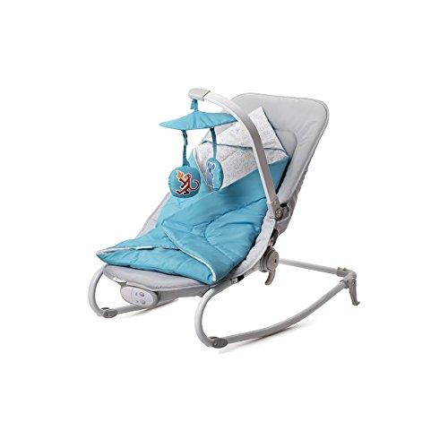 Kinderkraft Felio Babywippe Schaukelsitz Babyschaukel Wippe Schaukel Babysitz Blau
