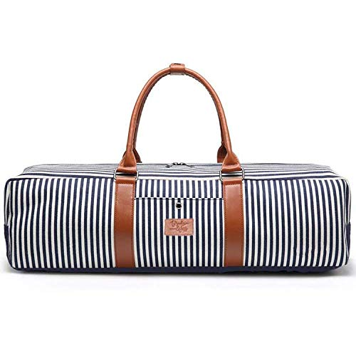 Brooke & Jess Designs Cute, Trendy, Modern Striped Gym Yoga Mat Tote Bag for Women - Workout Tote That Carries Mat - Fitness Tote Bag for Women (Gym Tote Bag, Navy Striped Mat Bag) (Atafa Yoga Mat Bag)