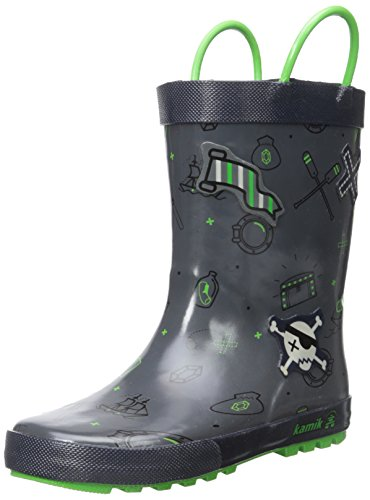 [Kamik Shipwreck Rain Boot (Toddler/Little Kid), Light Grey, 8 M US Toddler] (Next Kids Boots)