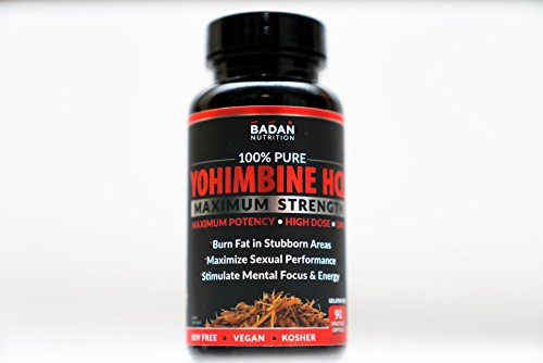 Badan Nutrtion Pure YOHIMBINE HCL, 90ct, 5MG HIGH DOSE, Maximum Potency, Burn Subborn Fat, Maximize Sexual Performance (Blood Flow, Libido & Stamina) 100% Natural, Soy Free, Vegan, Kosher! (90) For Sale