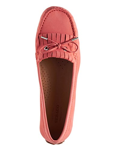 Sebago Women's Loafers Coral Coral Kiltie Tie Leather Harper Nubuck rAfSU1qr