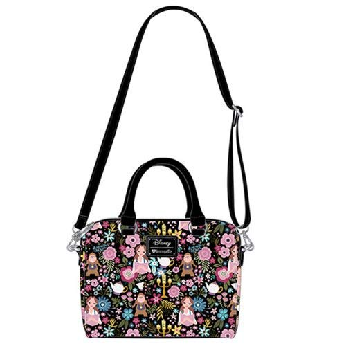 Loungefly x Beauty and the Beast Floral Print Duffel Purse
