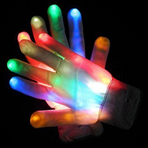 Mammoth Sales 1 Pair Of LED Flashing Light Up Party Rave Gloves - Various Styles