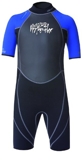 Hyperflex Wetsuits Children's Access Spring Suit, Black/Blue, 8 - Surfing, Windsurfing & Wakeboarding Neoprene Neck Shield