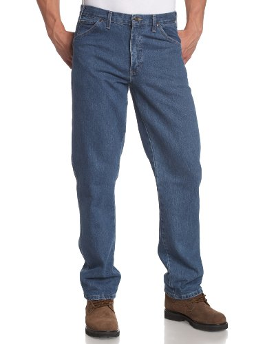Dickies Men's Regular Fit 5-Pocket Stone Washed Jean, Stone Washed Indigo Blue, 32x34