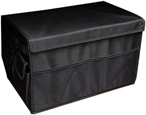 Amazon.es: BYCDD Caja Plegable para Coche con Tapa, Plegable Protección contra la Humedad, frío y Caliente Bolsa para Maletero Organizador Impermeable Caja De Almacenamiento, Black_50x30x30CM