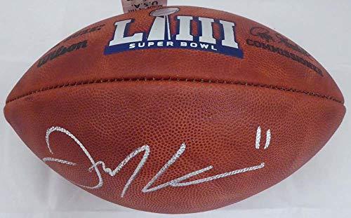 Nfl Bowl Autographed Super (Julian Edelman Autographed Super Bowl LIII NFL Leather Football New England Patriots Beckett BAS)