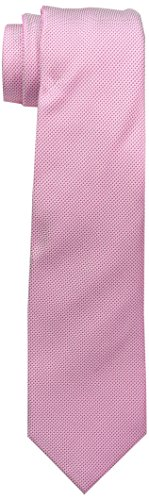 Ben Sherman Men's Core solid 100 Percent Silk Tie, Fuchsia, 12