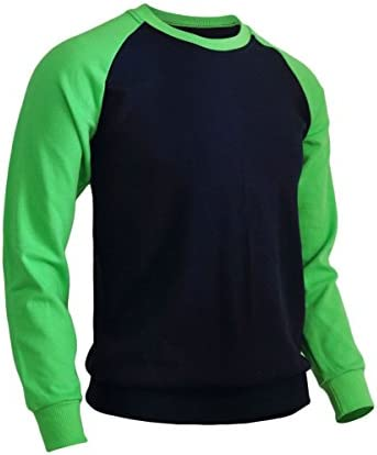 メンズカジュアルラグラン2トーンカラーTシャツスポーツファッションクルーネックコットンシャツ