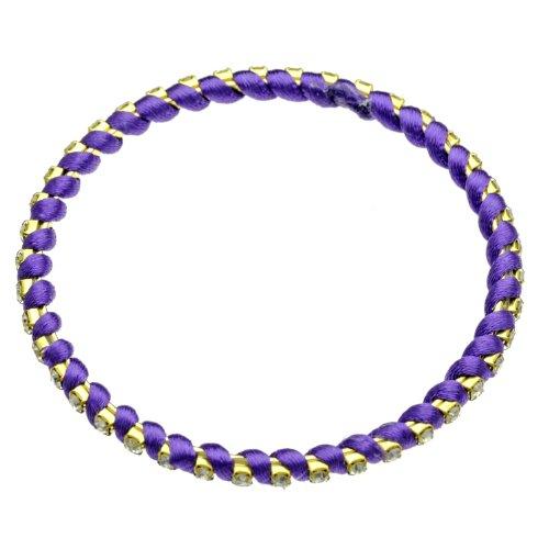 Purple Silk Thread Bracelet - 5