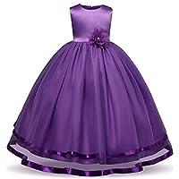 Alisha Moda Girl's Satin Gown Dress