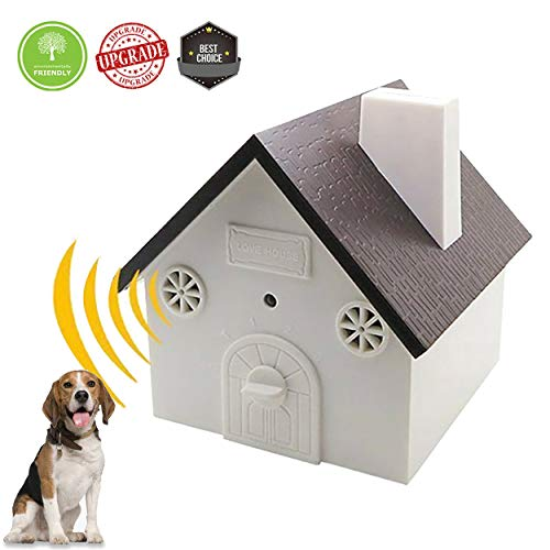 (Serenity (New Upgrade Model) Ultrasonic Bark Control Device-Anti-Barking Training Tool - Safe Deterrent Silencer for Yard - Outdoor Sonic Control For Small/Medium/Large Dogs -Up To 50 Feet Effective)