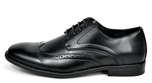 Bruno Marc DP Mens Formal Modern Classic Lace Up Leather Lined Oxford Dress Shoes 08-black 4Qd9d0KCJ