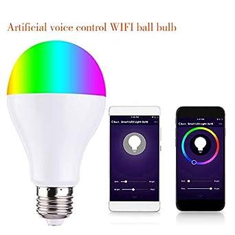 FanSi Smart WiFi Bombilla LED, Control de voz o teléfono, compatible con Alexa, Echo y Google Home: Amazon.es: Iluminación