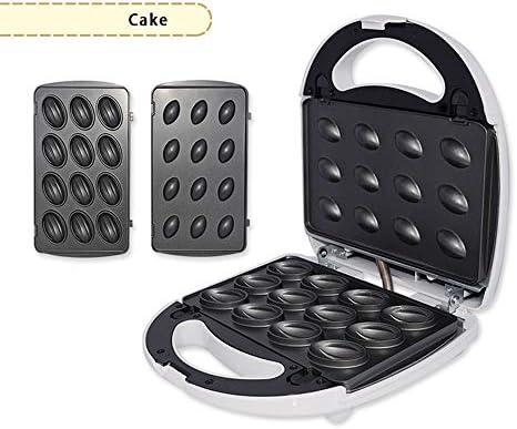 YC° 4 en 1 Gaufrier électrique gâteau Maker Grillage, Omelettes Griller Petit déjeuner Donut Sandwich Grille Pain Cuisine Ménage