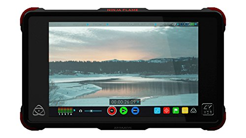 Atomos Ninja Flame Kit (includes 7-inch 10-bit AtomHDR 1500nit Field Monitor plus full accessories) ATOMNJAFL1 by Atomos