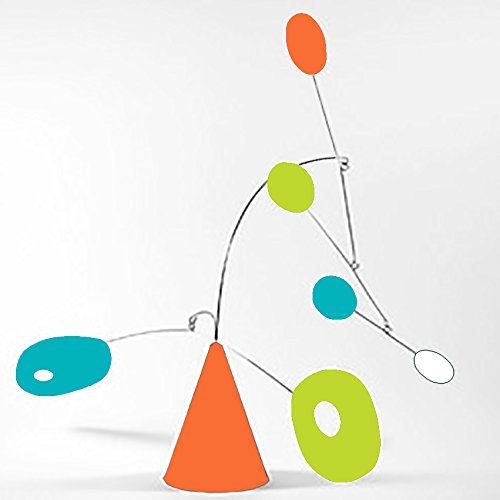 Modernism ''Strobile'' by Atomic Mobiles in Palm Springs Colors - Tabletop Mobile Inspired by Calder and Midcentury Modern - 2 Sizes To Choose From by Atomic Mobiles