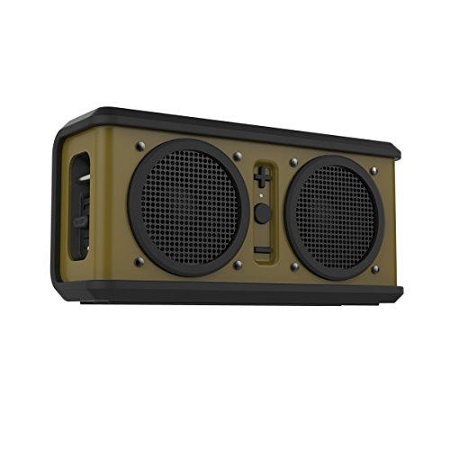 Skullcandy Air Raid Water-resistant Drop Proof Bluetooth Portable Speaker, Olive Green and Black ()