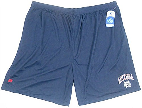 ARIZONA WILDCATS NCAA RUSSELL ATHLETIC MESH SHORTS TEAM ISSUE BIG & TALL SIZES (Russell Athletic Elastic Waist Shorts)
